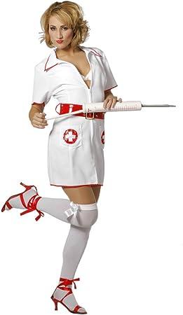 Stekarneval - Disfraz de enfermera sexy para mujer, talla UK 12-14 ...
