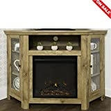 Electric Fireplace TV Stand Table Shelves Vertical Media Storage Rustic Unique Design Minimal Decor Indoor House Entertainment Center Furniture & E book Easy 2 Find.