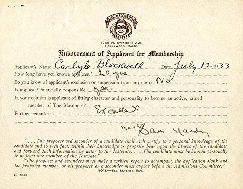 Sam Hardy - Chronicle Signed 07/12/1933