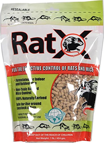 EcoClear Products RatX 620101 All-Natural Non-Toxic Rat and Mouse Killer Pellets, 1 lb. Bag