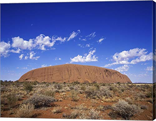 Rock Formation, Ayers Rock, Uluru-Kata Tjuta National Park, Australia Canvas Art Wall Picture, Gallery Wrap, 25 x 20 inches