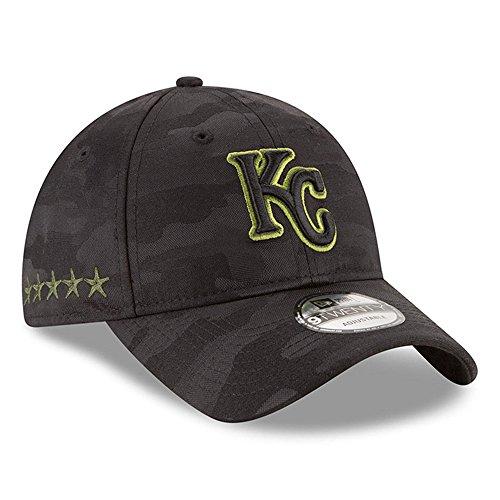 Kansas City Memorial - MLB 2018 Memorial Day 9TWENTY Adjustable Dad Hat (Strap) – Black/Black (Kansas City Royals)