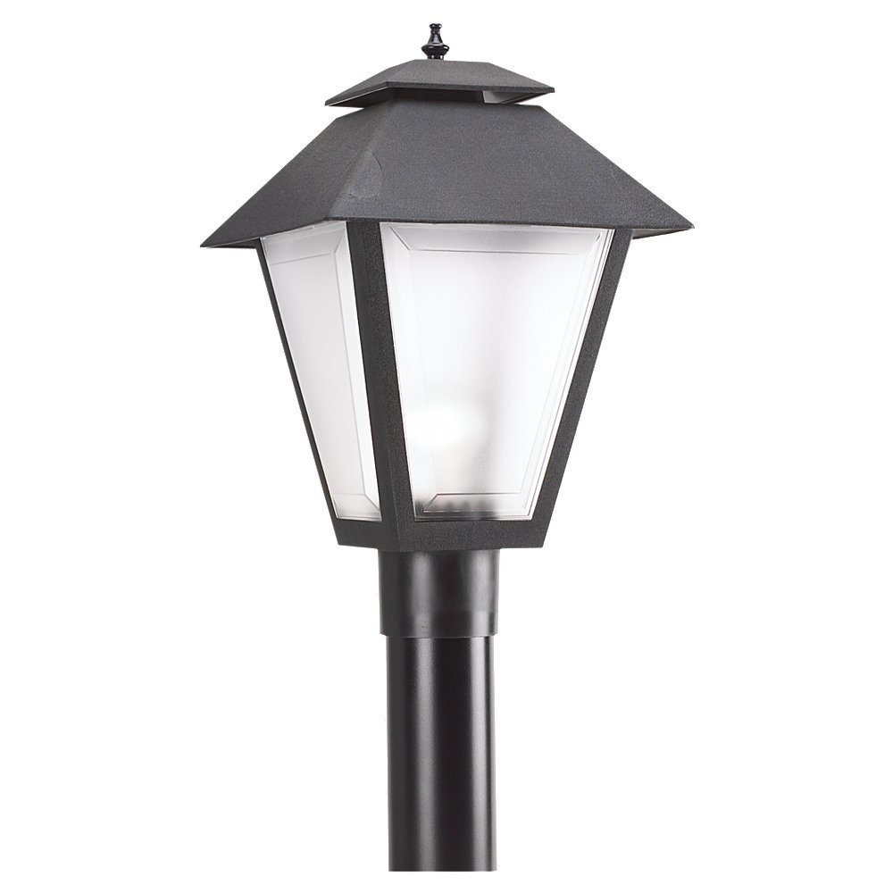 Seagull Lighting 82065 12 Polycarbonate Outdoor One Light Post Lantern Black Com