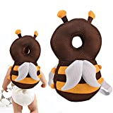 SSAWcasa Toddlers Head Protective Cushion Pillow,Baby Head Protector,Adjustable Head Shoulder Safety Pads with Flexible Strap for Walking,Crawling,Infant Headguardto Prevent Head Injured (Bee)
