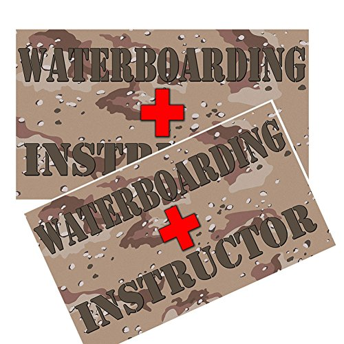 Camoflaged Red Cross Waterboarding Instructor Decals Pack of Four