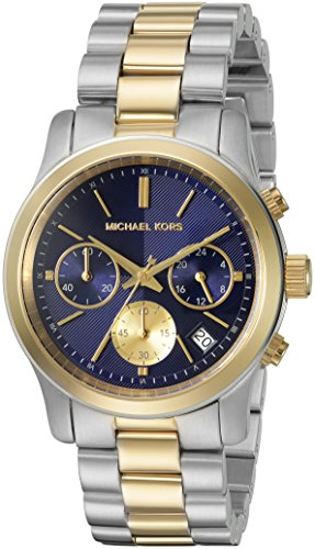 Michael Kors Women's Chronograph Runway Two-Tone Stainless S