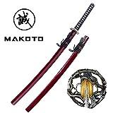 """Best Katana Swords - Makoto Handmade Sharp Japanese Katana Samurai Sword 40"""" Review"""