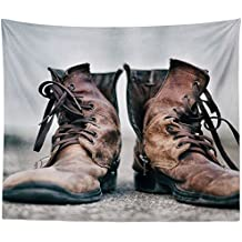 Westlake Art - Wall Hanging Tapestry - Boot Shoe - Photography Home Decor Living Room - 68x80in (q8z ad6 434)