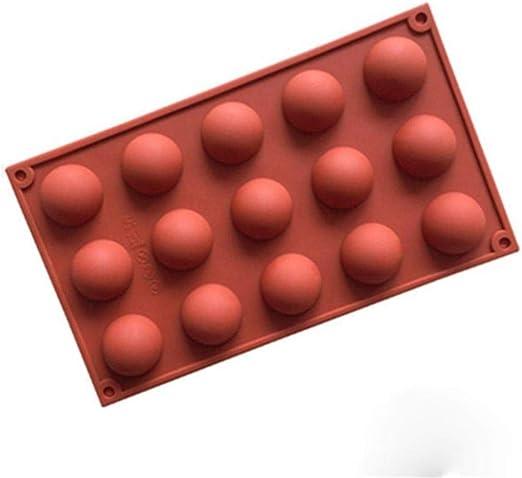 Compra LASISZ Molde de Silicona de Esfera esférica para Hornear Chocolate Molde Redondo de Pastel de Silicona para Hornear Forma de pudín Molde de jabón de gelatina Molde de Caramelo de Pan,