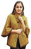 Women's Alpaca Wool Knit Yarn Cape Coat Poncho (Brown/Gold)