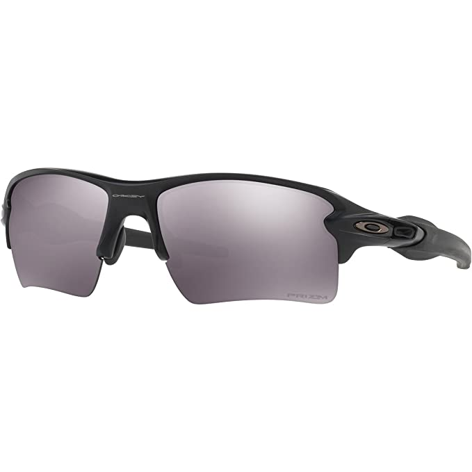 Oakley Men's OO9188 Flak 2.0 XL Rectangular Sunglasses, Matte Black/Prizm Black, 59 mm