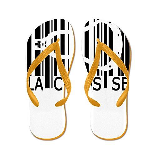 Cafepress Lacrosse Barcode - Flip Flops, Grappige String Sandalen, Strand Sandalen Oranje