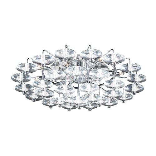 PLC Lighting 96981 PC 12 Light Ceiling Light Diamente -