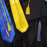 Graduation Stole, Unisex Adult Plain Satin