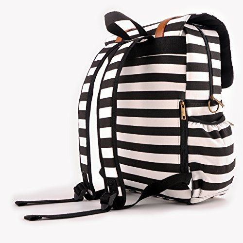 kaydee diaper bags baby canvas diaper tote backpack bag with stroller straps and. Black Bedroom Furniture Sets. Home Design Ideas