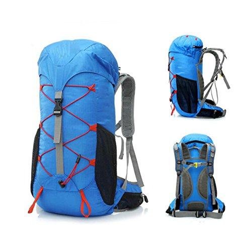 Alpinismo Al Aire Libre Mochila De Viaje 35L,Blue2 Blue1
