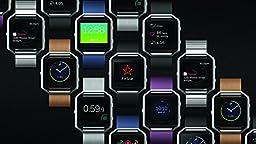 Fitbit Blaze Smart Fitness Watch, Blue, Silver, Small