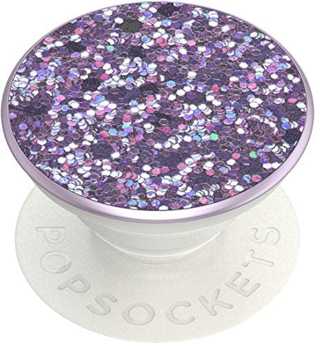 PopSockets: PopGrip with Swappable Top for Phones and Tablets - Sparkle Lavender Purple