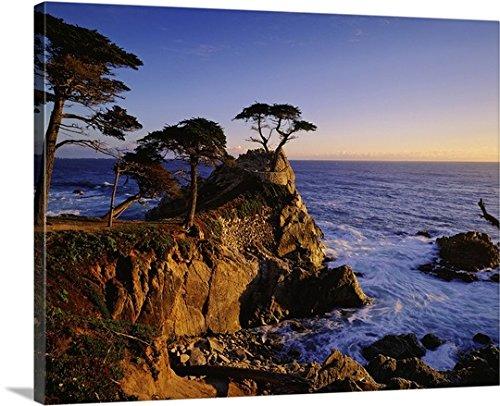 Giovanni Simeone Premium Thick Wrap Canvas Wall Art Print Entitled United States  California  Carmel Coast Near Monterey Bay