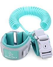 PULUSI Anti Lost Wrist Link Safety Wrist Link,Safety Harnesses and leashes for Toddlers, Babies & Kids(Green,2M)