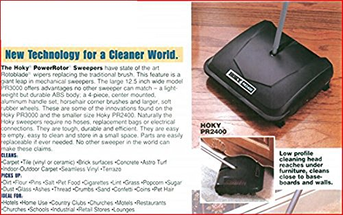 HOKY PR3000 Sweeper with Rubber Rotor, 12-1/2 Cleaning Path, Grey by HOKY (Image #6)