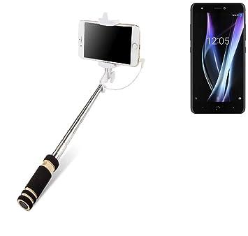 K-S-Trade Selfie Stick palillo para BQ Aquaris X Pro, Negro ...