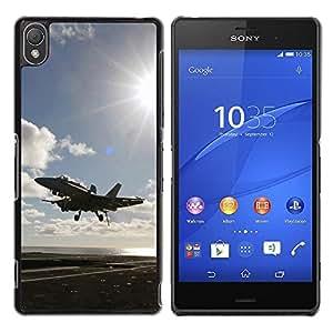 Smartphone Rígido Protección única Imagen Carcasa Funda Tapa Skin Case Para Sony Xperia Z3 D6603 / D6633 / D6643 / D6653 / D6616 Fly fighter up / STRONG