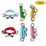 FST 6 PCS Multi-Color Band Wrist Bells Musical Rhythm Toys Jingle Bells Ankle