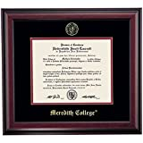 Meredith Angels Diploma Frame Black Red Matting Embossed Seal