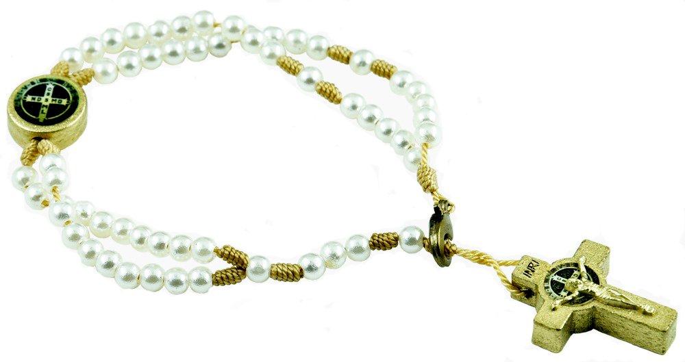 Catholica Shop San Benito Saint Benedict Medal Rosary Bracelet CS G9-K8E3-E6VA