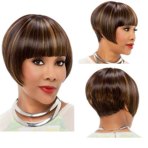 FORUU Wigs, 2019 Valentine's Day Surprise Best Gift For Girlfriend Lover Wife Party Under 5 Free delivery Short Bobo Human Mix Hair Full Lace Wig Glueless Stragiht Wigs Black Women -