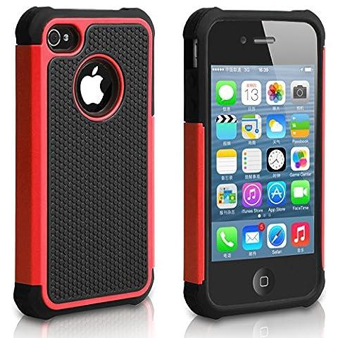 Pasonomi iPhone 4 Case-Premium Heavy Duty Hybrid Shockproof Durable Bumper