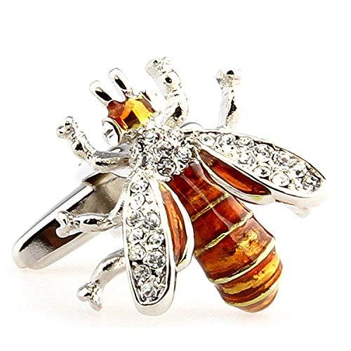 RXBC2011 Jewelry Bee Cufflinks (YELLOW(NO Gift Boxed))