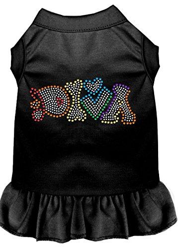 Mirage Pet Products 57-64 LGBK Black Technicolor Diva Rhinestone Pet Dress, Large