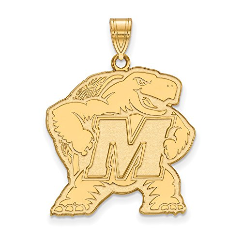 Maryland Extra Large (1 Inch) Pendant (14k Yellow Gold) by LogoArt