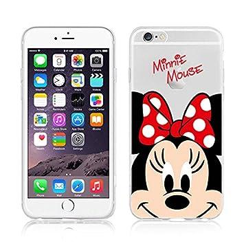 Funda transparente de TPU con diseño de personajes de Disney como Winnie The Pooh, Mickey y Daisy, para iPhone 6, 6S, 6 Plus y 6S Plus, plástico, ...