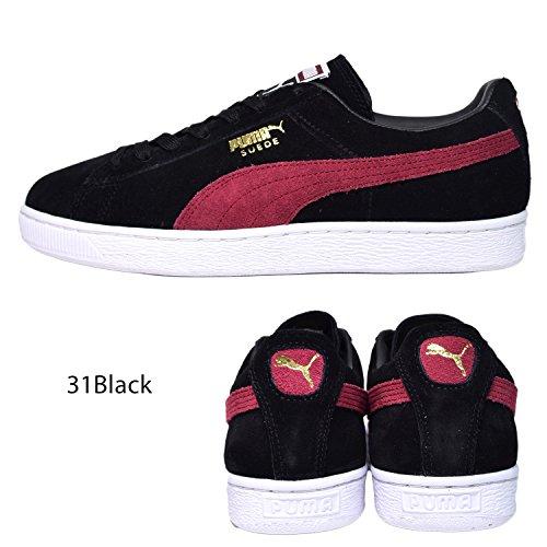 Puma Puma Classic Suede Suede Black Puma Black Classic Red Red Suede XqSHB