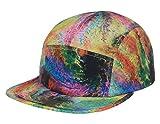 5 panel hat tie dye - GP Accessories Men's Tie Dye PU Strapback 5 Panel Hat Large Multicolored