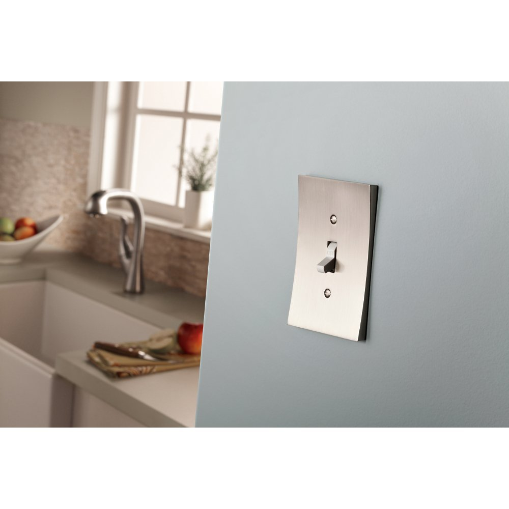 2 Gang Switched Socket Compact concave rocker design