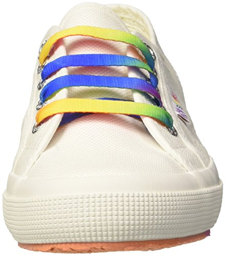 Mujer White 901 para 2750 Outsole Zapatillas Cotw Superga Blanco Multicolors xg48wYxq