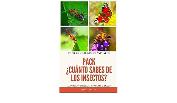 PACK ¿CUÁNTO SABES DE LOS INSECTOS?: Pack de 4 libros de la colección. Mariposas, libélulas, hormigas y abejas (¿Cuánto sabes de...?) eBook: Garalba, Diego: Amazon.es: Tienda Kindle