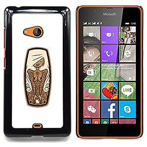 For Microsoft Nokia Lumia 540 N540 - Sexy Tattoo Woman Girl /Modelo de la piel protectora de la cubierta del caso/ - Super Marley Shop -