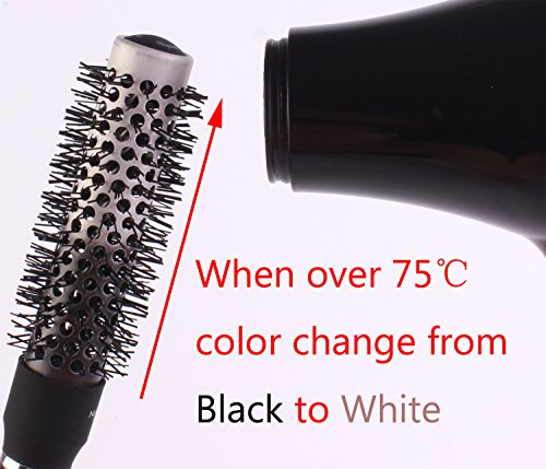 Round Thermal Brush Set, Professional Nano Ceramic & Ionic Barrel Hair Styling Blow Drying Curling Brush, 5 Different Sizes by Perfehair (Image #1)