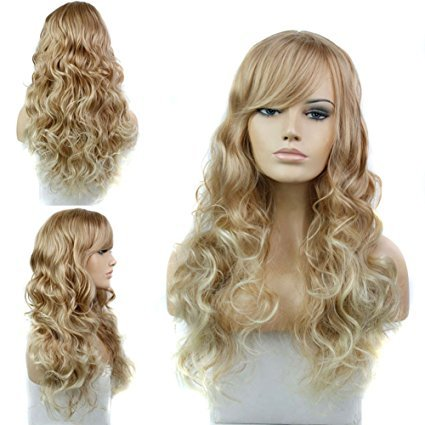 Sexy Stylish Long Natural Wave Synthetic Hair Cosplay Wig Women Full Party Wigs