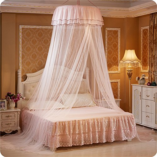 ng Ceiling Dome Round Cute Princess Student - Suitable for bed 3.9-5.9 INCH (Light pink) ()