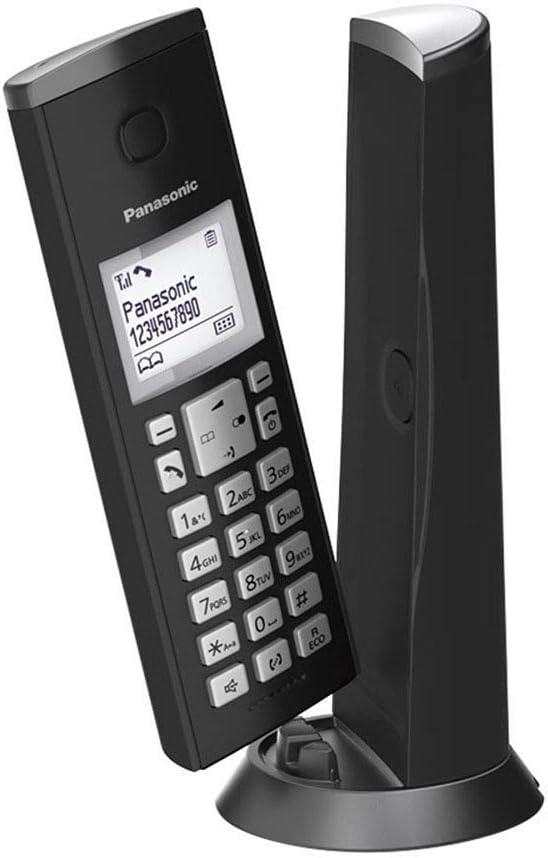 Panasonic KX-TGK310 - Teléfono (DECT, Altavoz, 120 entradas, Identificador de Llamadas, Identificador de Llamadas) Color Negro [Versión Importada]
