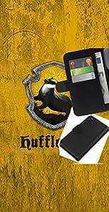 LECELL--Cuero de la tarjeta la carpeta del tirón Smartphone Slots Protección Holder For Sony Xperia Z3 D6603 -- Hufflepuff --