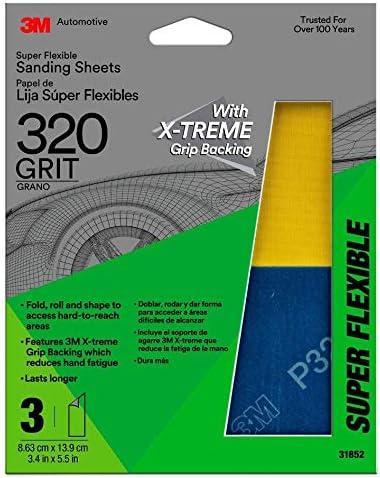 3 Pack 1200 Grit 3M Super Flexible Sanding Sheets 31849