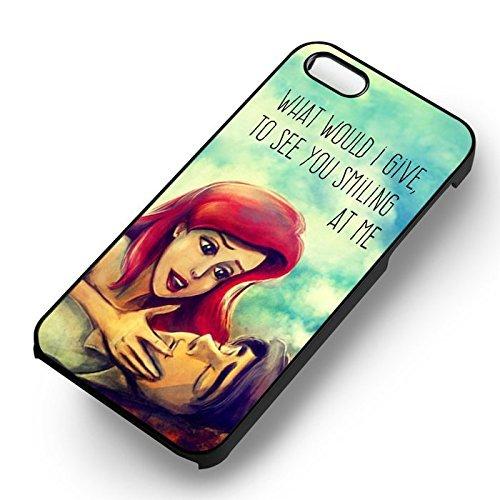 Disney Ariel Quote pour Coque Iphone 6 et Coque Iphone 6s Case (Noir Boîtier en plastique dur) Y8V8SP