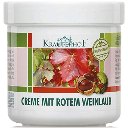 KrauterhoF Foot Cream for Varicose Veins with horse chestnut and red vine leaves ()